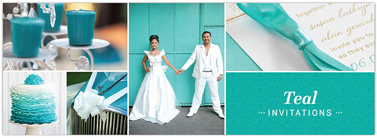 Wedding Invitations Turquoise: Teal And Turquoise Wedding Invitations